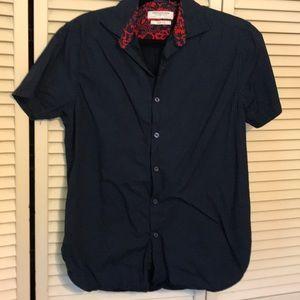 Men's short sleeve camp shirt, size Med